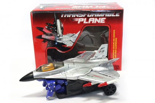 Самолет-трансформер Edu-Play со звуками и огнями (на батарейках)