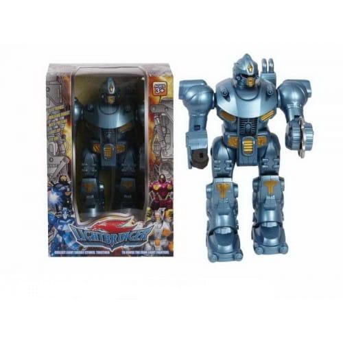 Купить Электронный робот со световыми эффектами Shantou Gepai - голубой в интернет магазине игрушек и детских товаров