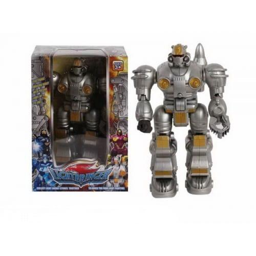 Купить Электронный робот со световыми эффектами Shantou Gepai - металлик в интернет магазине игрушек и детских товаров