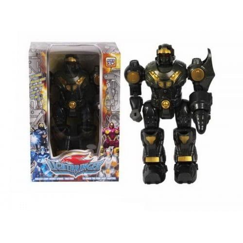 Купить Электронный робот со световыми эффектами Shantou Gepai - черный в интернет магазине игрушек и детских товаров