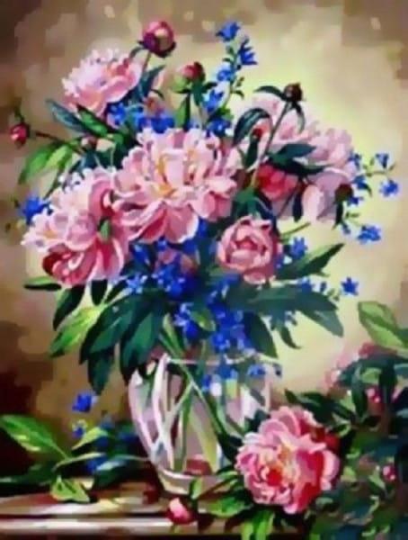 Раскраска по номерам Белоснежка Букет лесных цветов