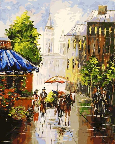 Раскраска по номерам Белоснежка Мотивы старого города