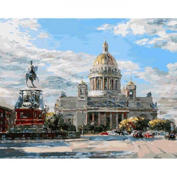 Раскраска по номерам Белоснежка Исаакиевская площадь