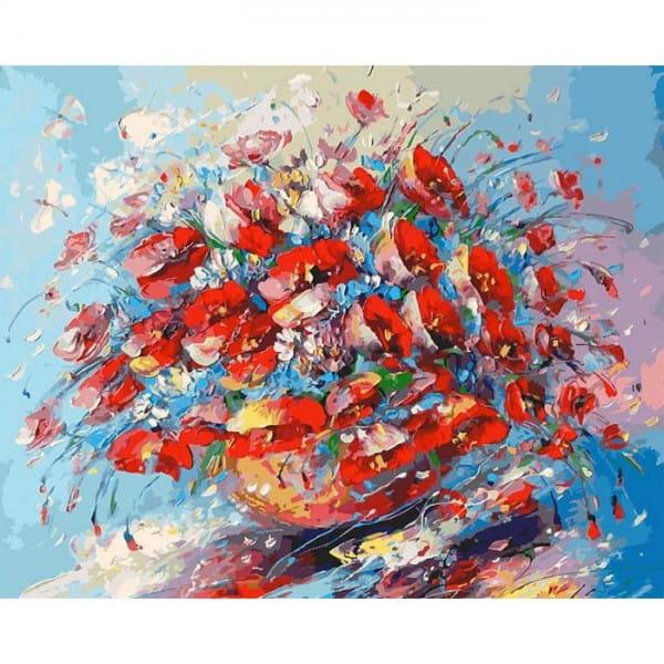 Раскраска по номерам Белоснежка Цветочная палитра лета