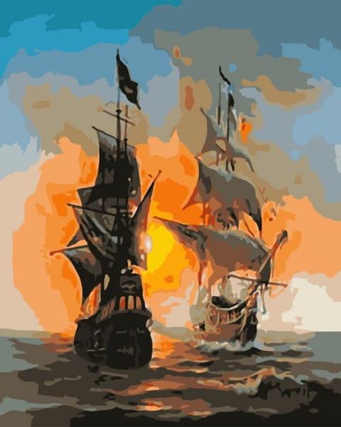 Раскраска по номерам Белоснежка Перед сражением