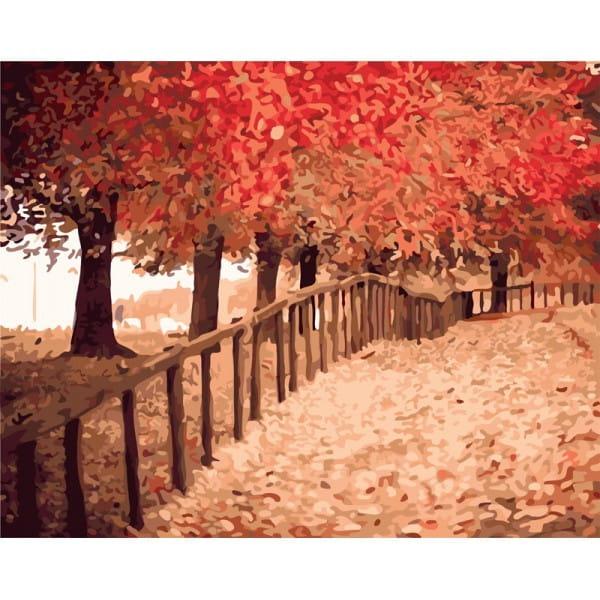 Раскраска по номерам Белоснежка Осенняя пора