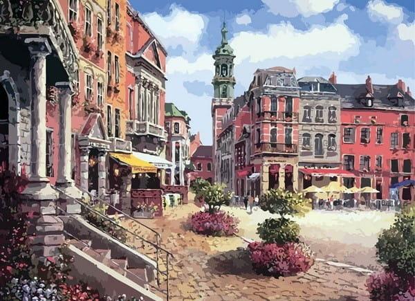 Раскраска по номерам Белоснежка Шарлеруа Бельгия