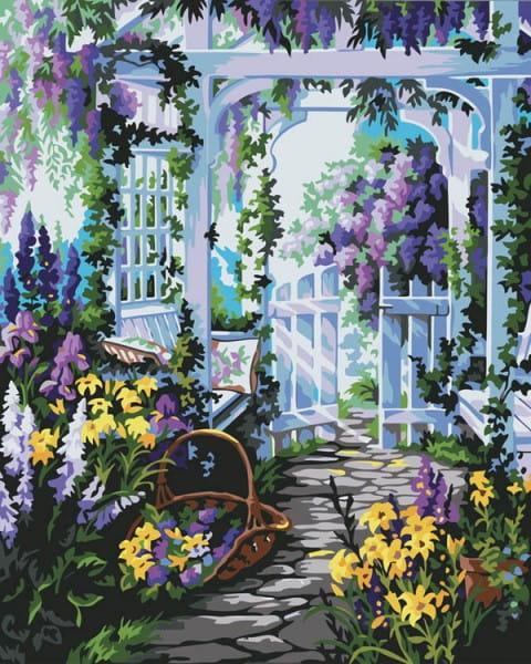 Раскраска по номерам Белоснежка Прекрасный сад