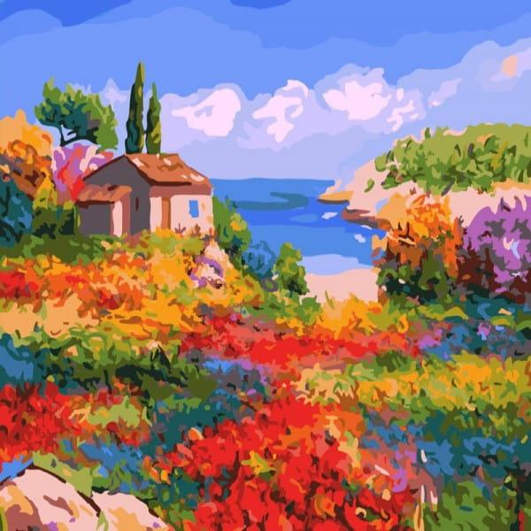 Раскраска по номерам Белоснежка 807-AB Солнечный Прованс