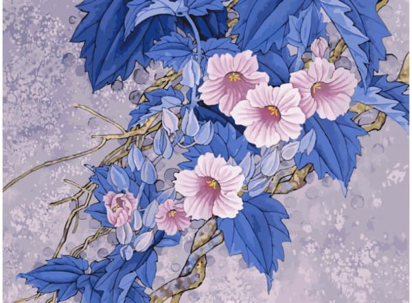 Купить Раскраска по номерам Белоснежка Цветущая ветвь в интернет магазине игрушек и детских товаров