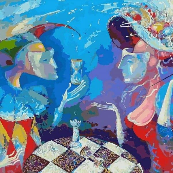 Раскраска по номерам Белоснежка 924-AB Партия или вся жизнь игра