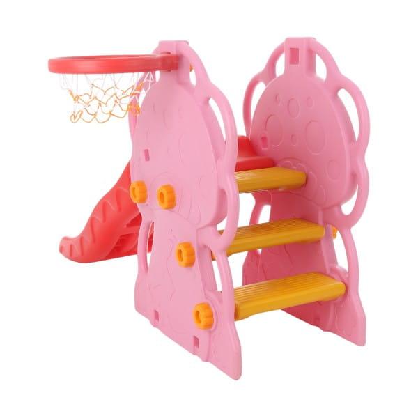 Горка QiaoQiao Веселый грибок (с баскетбольным кольцом)