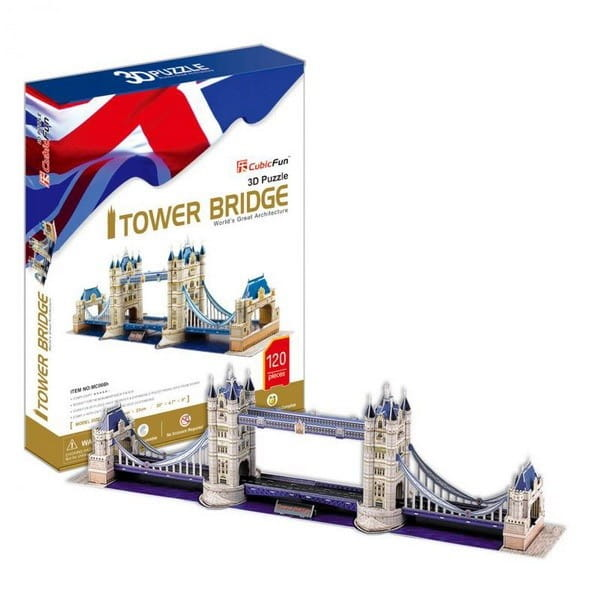 Объемный 3D пазл CubicFun MC066h Тауэрский Мост в Великобритании