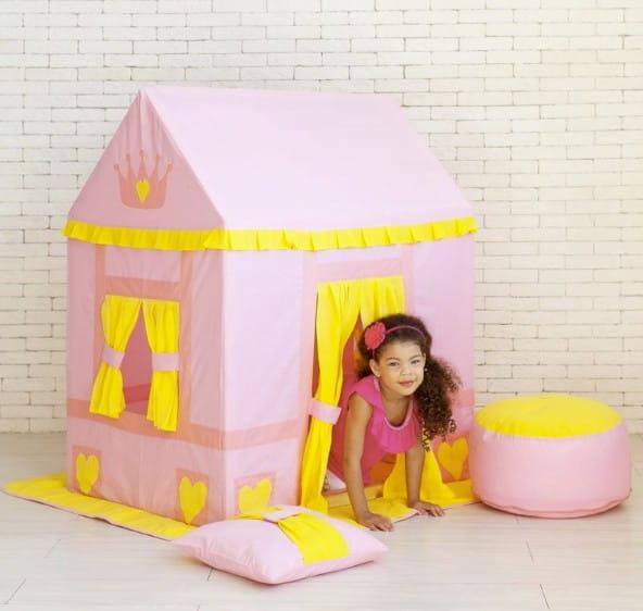 Купить Домик-палатка Paremo Дворец Три Короны (с пуфиком) в интернет магазине игрушек и детских товаров