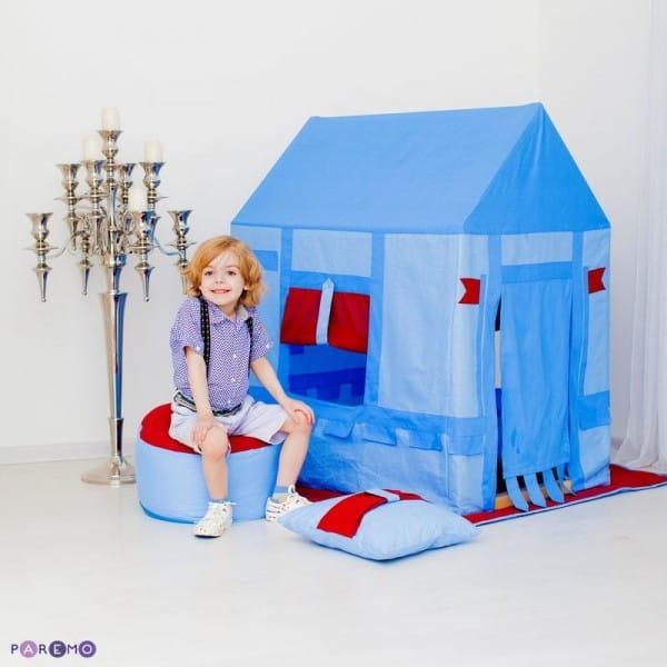 Купить Домик-палатка Paremo Замок Бристоль (с пуфиком) в интернет магазине игрушек и детских товаров