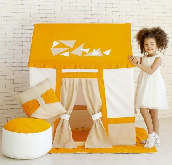 Купить Домик-палатка Paremo Замок Сомерсет (с пуфиком) в интернет магазине игрушек и детских товаров