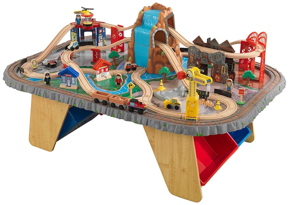 Купить Игровой набор для мальчиков Kidkraft Горный тоннель Waterfall Junction Train Set and Table в интернет магазине игрушек и детских товаров
