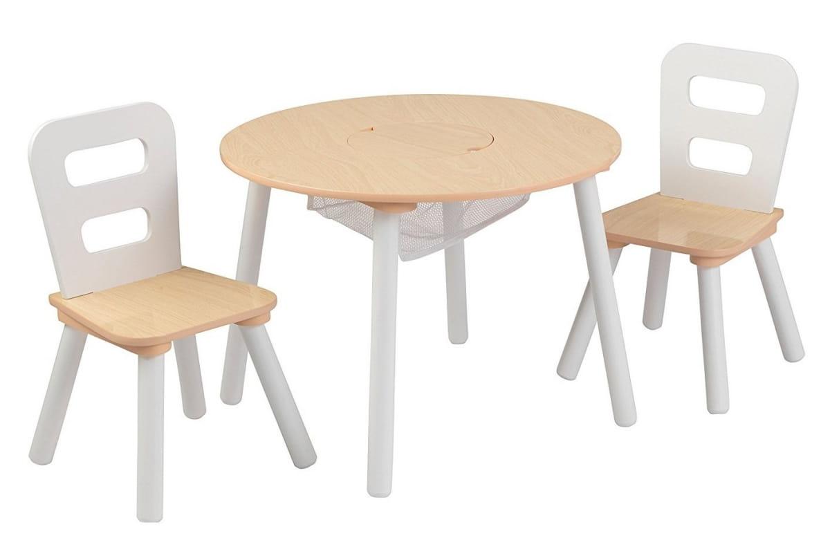 Набор детской мебели Kidkraft Сокровищница Round Storage Table and Chair Set - бежевый