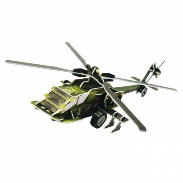 Купить Объемный пазл IQ 3D Puzzle Вертолет AH-64 (инерционный) в интернет магазине игрушек и детских товаров