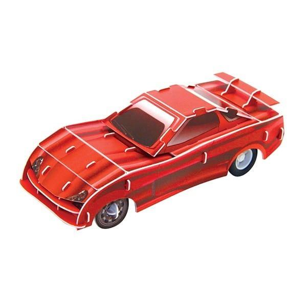 Купить Объемный пазл IQ 3D Puzzle Желтый гоночный автомобиль (инерционный) в интернет магазине игрушек и детских товаров