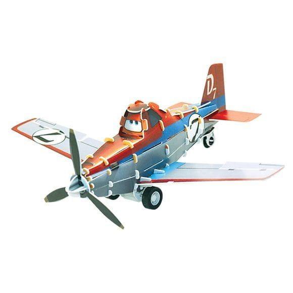 Купить Объемный пазл IQ 3D Puzzle Дисней Planes - Дасти Dusty (инерционный) в интернет магазине игрушек и детских товаров