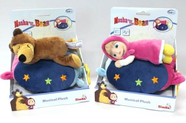 Плюшевая игрушка Simba Маша и медведь (со звуком)