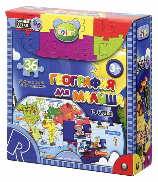 Купить Пазл Rico География для малыша в интернет магазине игрушек и детских товаров