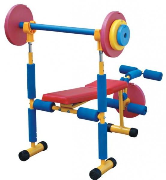 Купить Детская скамья для жима Moove and Fun со штангой в интернет магазине игрушек и детских товаров