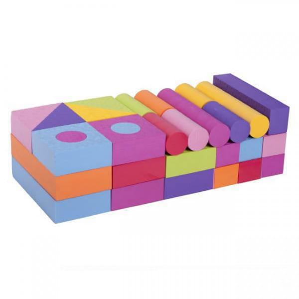 Купить Игровой набор Moove and Fun - 54 блока в интернет магазине игрушек и детских товаров