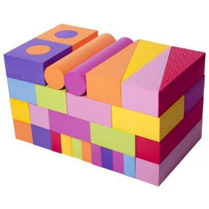 Купить Игровой набор Moove and Fun - 56 блоков в интернет магазине игрушек и детских товаров