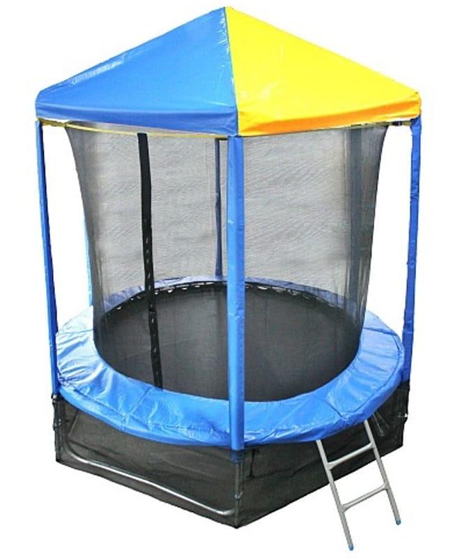 Батут Optifit Like Blue 6FT с сине-желтой крышей - 6 футов