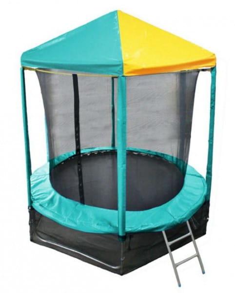Купить Батут Optifit Like Green 6FT с зелено-желтой крышей - 6 футов в интернет магазине игрушек и детских товаров