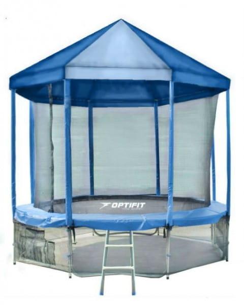 Купить Батут Optifit Like Blue 14FT с синей крышей - 14 футов в интернет магазине игрушек и детских товаров