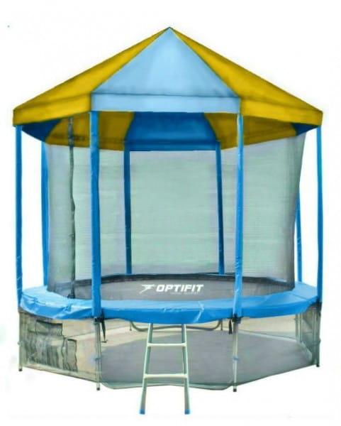 Купить Батут Optifit Like Blue 14FT с сине-желтой крышей - 14 футов в интернет магазине игрушек и детских товаров