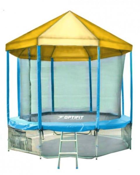 Купить Батут Optifit Like Blue 14FT с желтой крышей - 14 футов в интернет магазине игрушек и детских товаров