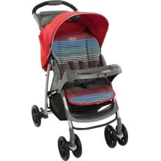 Фото Коляска прогулочная Graco Mirage W Parent tray and boot - Pepper Stripe