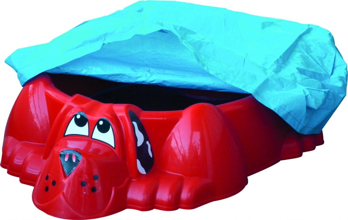 Песочница-бассейн PALPLAY Собачка с покрытием - красный (Marian Plast)