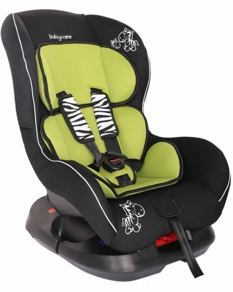 Детское автомобильное кресло Baby Care Люкс Зебрик зеленый