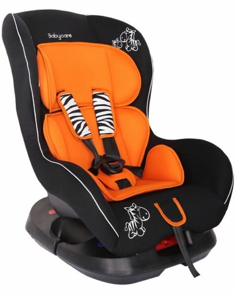 Детское автомобильное кресло Baby Care Люкс Зебрик оранжевый