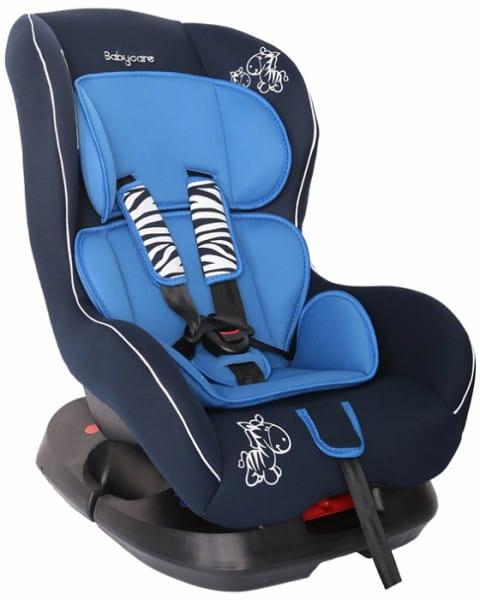 Детское автомобильное кресло Baby Care Люкс Зебрик синий
