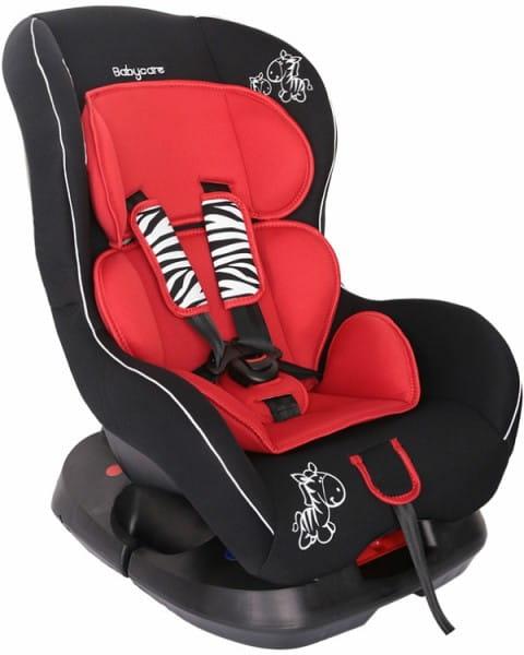 Детское автомобильное кресло Baby Care Люкс Зебрик красный