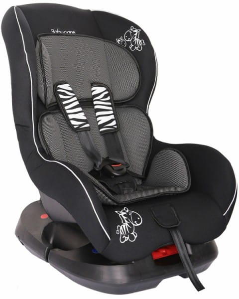 Детское автомобильное кресло Baby Care Люкс Зебрик серый карбон