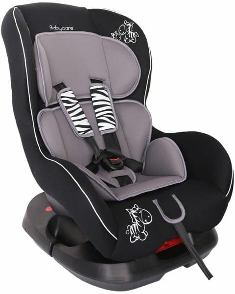 Детское автомобильное кресло Baby Care Люкс Зебрик серый