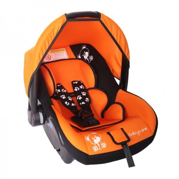 Детское автомобильное кресло Baby Care Мишка оранжевый