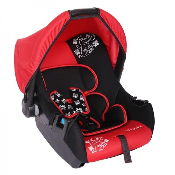 Детское автомобильное кресло Baby Care Мишка красный