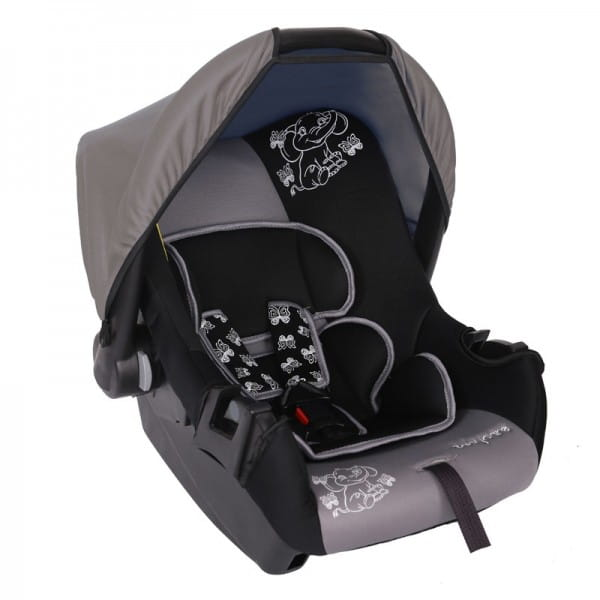 Детское автомобильное кресло Baby Care BC-322LUX Слоник серый