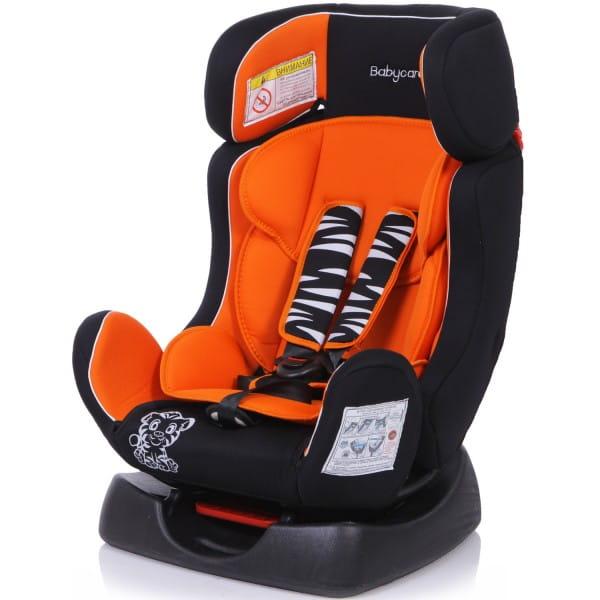 Детское автомобильное кресло Baby Care Тигренок оранжевый