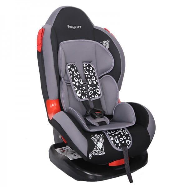 Детское автомобильное кресло Baby Care Люкс Леопардик серый