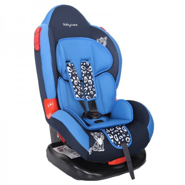 Детское автомобильное кресло Baby Care BC-02LUX Люкс Леопардик синий