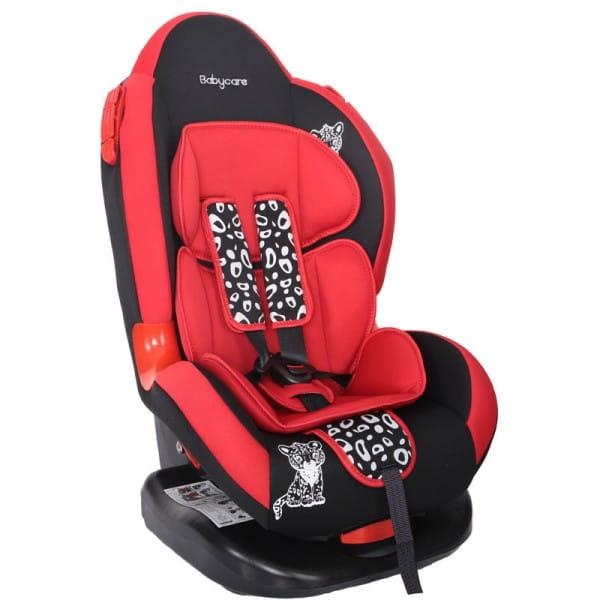 Купить Детское автомобильное кресло Baby Care Люкс Леопардик красный в интернет магазине игрушек и детских товаров